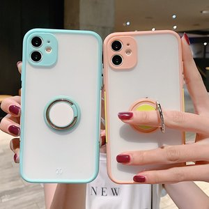 Camera Protection Ring Holder Phone Case For iPhone11Pro Max XR XS Max X XS 7 8 Plus Shockproof Bumper Clear Back Cover