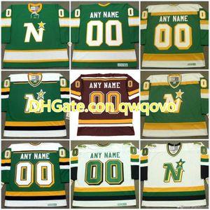 MinnesotaNorth Stars Jersey Personalizado con cualquier número de Nombre Vintage Hockey Jerseys PERSONALIZADO CUSDDTOM TODO EL PEDIDO DE LA MEZCLA STICHED