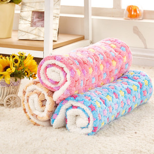 Thicken Warm Pet Bed Mat Cover Cozy Soft Coral Fleece Blankets For Small Medium Large Dogs Cats Winter Dog Cushion Pet Supplies