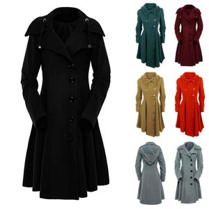 Double-breasted Windbreaker Women's Winter Long Wool Coat Outerwear 2020 Korean Fashion Ladies Trench Female Clothes