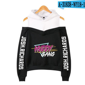 WAMNI 2020 Women Fashion HUDDY GANG Print Hoodie Off-shoulder Pullover Kpop Ladies Pullover Girls Sweatshirt