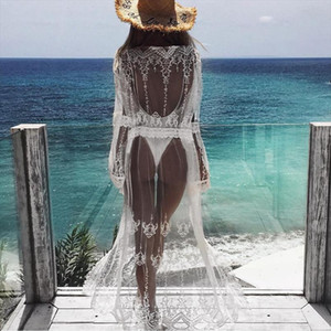 Women Chiffon Kimono Beach Cardigan Bikini Cover Up Wrap Beachwear Long blouse Drop Shipping Good Quality