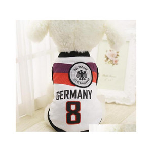 dog sport clothes pets soccer football jersey style soft breathable vest basketball tshirt for spring summer all puppy cats Gczh9