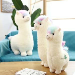 Cute 38cm 46cm White Alpaca Llama Plush Toys Doll Animal Stuffed Animal Dolls Soft Plush Alpacasso For Kids Birthday Gifts Y1125