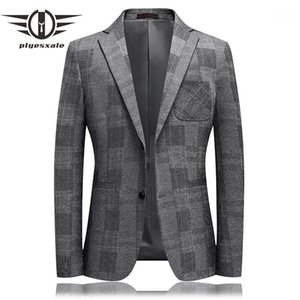 Plyesxale Brand 2020 New Spring High Quality Smart Casual Blazer Men Classic Slim Fit Formal Business Blazer Suit Jacket Q861