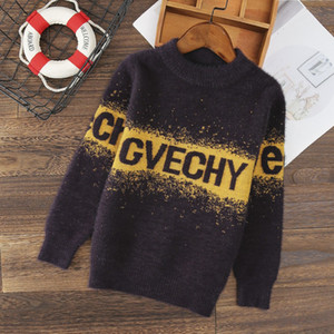 Children's sweater Winter New Cotton Clothing Hedging Round collar Sweater boys Sweater Children's clothing 4 6 8 10 12 14 years