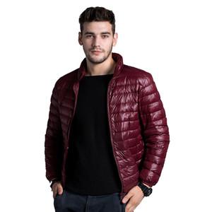 Winter Men Ultralight Jacket 2019 New Autumn White Duck Down Jacket Male Windproof Collar Warm Outwear Coat Parkas Outdoors Y1120
