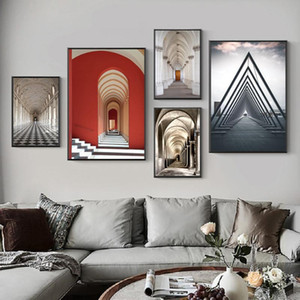Nordic Minimalist Rome Architecture Posters And Prints Building Wall Art Canvas Paintings Pictures for Living Room Home Decor
