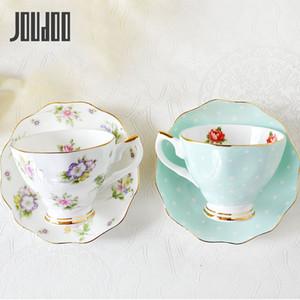 Juego de café europeo de joudoo europeo china creativo simple cerámica plato de porcelana de la tarde taza de té de la tarde 200ml 35 F1217