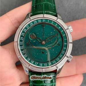 Super TZF version 5102 5106R 6104 Dynamic Starry Sky Dial Pearl Tuo Movement Mens Watch Silver Steel Case Leather Strap Designer Watches