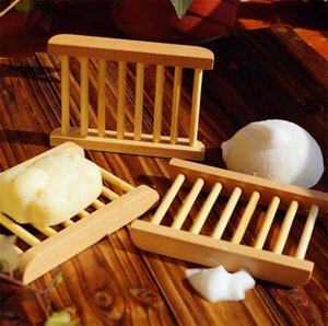 Natural Wooden Soap Dishes Tray Holder Storage Soap Rack Plate Box Container Portable Bathroom Soap Dish Box 9059