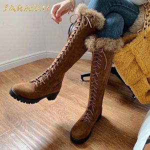 Sarairis 2021 جديد الجدة أعلى جودة أفخم شتاء دافئ أحذية امرأة أحذية skidproof وحيد الصليب تعادل الديكور الأحذية السيدات التمهيد