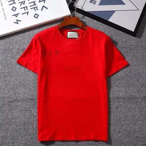 20SS New T-shirt per uomo Donne Estate Summer Traspirante Scopata Scopri le maniche Lettere Lettere stampate a strisce Tops Mens T Shirt