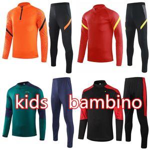 2020 2021 Rome Kids Training Support Lautaro Italie Soccer Tracksuit 19 20 21 Piatek Verratti Football Jacket Kit