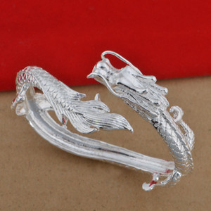 925 silver plated bracelet Korean popular men's Dragon Bracelet Jewelry F1130