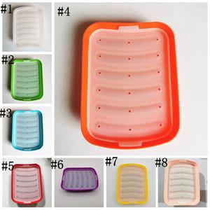 Silikon Sosis Kalıp Ev yapımı DIY Sıcak Köpek Değirmen Pişirme Kalıpları Bebek Maması Makinesi Isıya Dayanıklı Ev Yapımı Mutfak Kahvaltı Araçları DHC4321