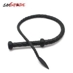 95cm Microfiber Leather Fetish Libido Whip BDSM bondage erotic toys Spanking Paddle Adult Games Y201118
