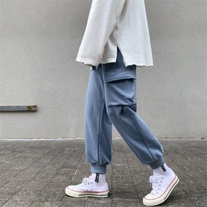 2020 Autumn New overalls men's ankle-tied sweatpants multi-bag casual sports pants