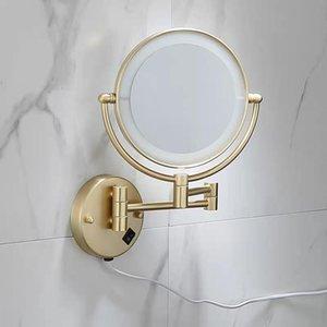 Specchi per il trucco Blass Blass LED LED che si estende a parete pieghevole a parete doppio LED LED Specchio luminoso 3x 5x 10x Mirrors da bagno di ingrandimento