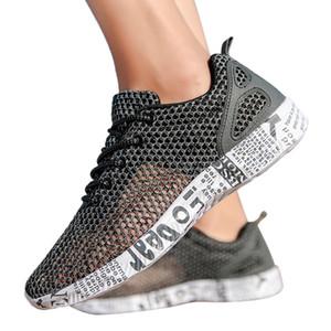 SAGACE Baskets mode Homme d'extérieur creux Mesh confortable sport Casual chaussures antidérapantes Run respirante Chaussures d'été Chaussures X1226