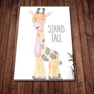 Cartoon Giraffe Art Poster Nordic Fashion Canvas Painting Wall Art Pictures Prints and Posters for Living Room Décor