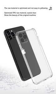 500pcs Fall prevention transparent phone case for iphone 12 11 mini pro max huawei Samsung protective shockproof clear case protect camera