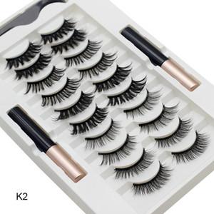 10 Pairs Manyetik Yanlış Kirpik Eyeliner Kiti ile Doğal Görünüm GlamNetic Kozmetik Kirpik Hızlı Kuru Kalın ve Uzun Makyaj Aracı