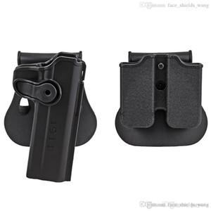 Pistol Holster Rotates 360 Degrees Right Hand Belt Loop Paddle Platform for Taurus 24 7 24 7-OSS Paddle