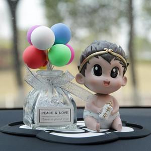 Carino dell'automobile che agita la decorazione della testa della testa di forma del bambino che agita la bambola della testa per le merci dell'automobile Decorazione degli accessori interni