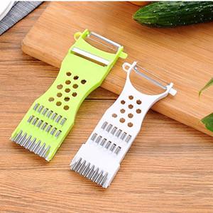 Mutfak Sebze Parçalayıcı Fonksiyonlu Manuel Dilimleyiciler Salatalık Kesici Sebze Meyve Peel Parçalayıcı Dilimleme Mutfak Araçları YHM166 kesiciler