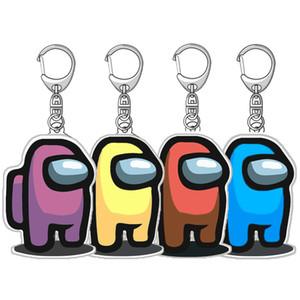 Giochi Tra gli Stati Uniti Portachiavi del regalo di natale del keychain per la decorazione della chiave della macchina Giocattoli dei cartoni animati in metallo acrilico Catena chiave