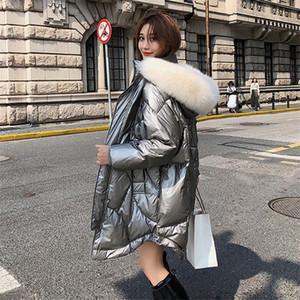Down Coat Winter White Duck Down Jacket Women Long Thick Fur Collar Coat Parka Female Donsjas Dames Doudoune Femme Hiver