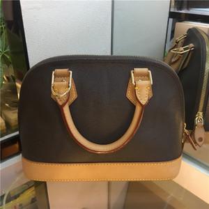 High quality ALMA BB shell bag women handbag leather flower Embossed shoulder bags crossbody bag Messenger handbags with lock Shoulder strap