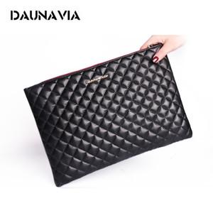 DAUNAVIA Fashion Women's Leather Women Famous Brands Envelope Clutch Evening Bag Female Bolsas Clutches Handbag Q1116