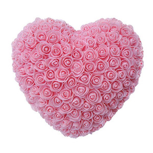 30cm Heart Shape Fresh Preserved Rose Flower Artificial Flowers For Wedding Marriage Home Party Decoration Valentine'S Day Gift T200509