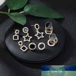 New Cute Earrings Heart Bling Zircon Stone Rose Gold Stud Earrings for Women Korean Fashion Jewelry New Gift
