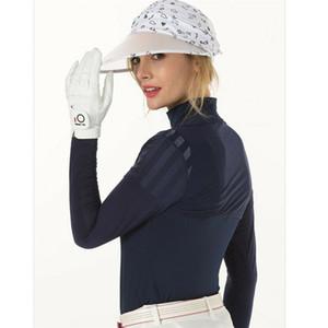 Mujeres Guantes de golf Señoras pares transpirables húmedo húmedo lluvia agarre a mano derecha mano derecha tamaño blanco xs s m l xl dedo diez gota envío 201026