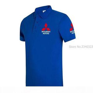 Brand New Men's For Desiger 9 Colors Mitsubishi Polo Men Cotton Short Sleeve Shirt Clothes Plus Size Xxxl C19041501