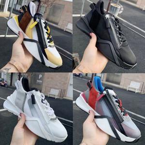 2021 Erkekler Tasarımcı Akış Sneaker Fermuar Örgü Deri Eğitmenler Kadın Deri Moda Rahat Ayakkabılar Runner Ayakkabı 259