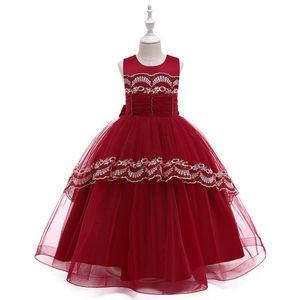 INS girls formal dresses lace girls dresses long party kids dress flower girls dresses for wedding princess dress girl clothes B2692