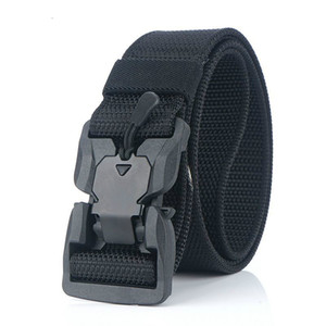 Tactical Belt Hard PC Quick Release Magnetic Buckle Belt Soft Real Nylon Sports Accessories