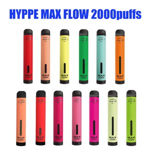 Hyppe Max Flow Device Pod Device Kit 2000 Puffs 6ml Cartucho Pré-preenchido 900mAh Bateria Vape Vape Va Vaz Vs Bar Bar Plus XXL