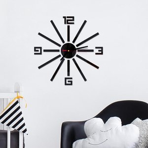3D Wall Clock Design Large Acrylic Mirror Clocks Stickers Wall Watch Living Room Decorative House Clock On The duvar saati