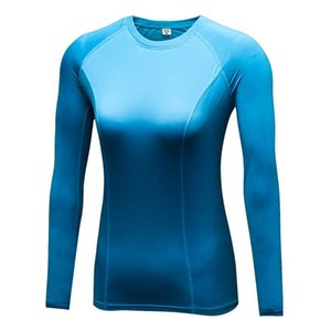 Yoga Gymnastique Vélo Sports Sports Fast Sec Femmes Compression Compression Couche Tee shirt Dernier