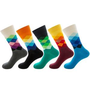 Lovers Socks 10 Colors Diamond Board Socks Color Gradient Men Diamond Women Hip Hop Size 38 - 46