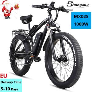 EU SHENGMILO EBIKE MX02S Bike elettrica 1000w 17ah 48 V litio-batteria da 26 pollici City grasso pneumatico per bicicletta mountain bike mountain bike