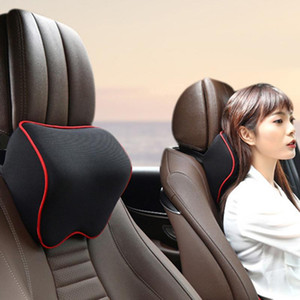 Car Neck Headrest Pillow Car Accessories Cushion Auto Seat Head Support Neck Protector Automobiles Seat Rest Memory Cotton