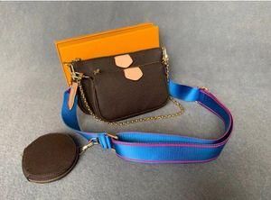 Топ женщины Crossbody сумка сумка мода сумка мода холст сумка сумка кошелек телефон сумки из трех частей комбинированные сумки