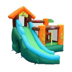 Casas de salto inflável inflável inflável com jardim de corrediça supplie moonwalk escalada casa de segurança combo saltar castelo slides w / soprador de ar pit