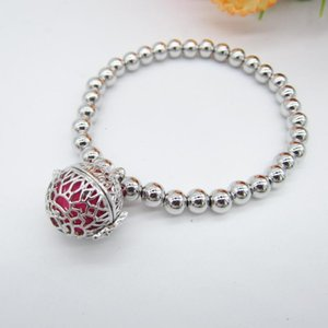 High Quality 6mm Copper Beaded DIY Locket Cage Oil Diffuser Bracelet